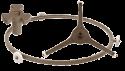 Коплер, крючок, кольцо и крестовины вращения тарелки
